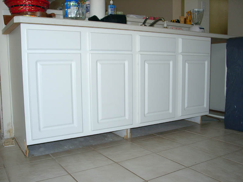 Repair - How to repair water damaged kitchen cabinets ...