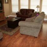Pretty and Durable, Laminate is Perfect For this Family Room