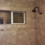 Stone Look Tile & Simple Accent