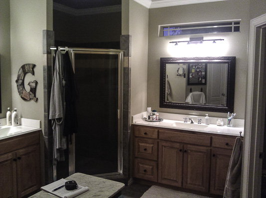 The original outdated bathroom was dark and closed in and really needed a remake.